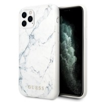 Guess Marble Hülle iPhone 11 Pro Max Weiß GUHCN65PCUMAWH