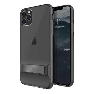 UNIQ Hülle Cabrio iPhone 11 Pro Max Grau mit Ständer