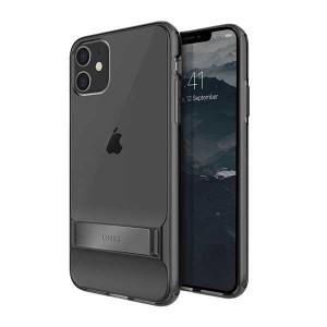 UNIQ Hülle  Cabrio iPhone 11 Grau mit Ständer