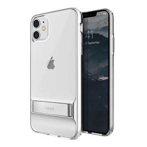 UNIQ Hülle Cabrio iPhone 11 transparent mit Ständer
