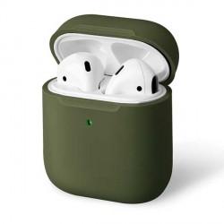 UNIQ Lino Slim Fit Silicone Schutzhülle AirPods 1 /  2 Generation olive green