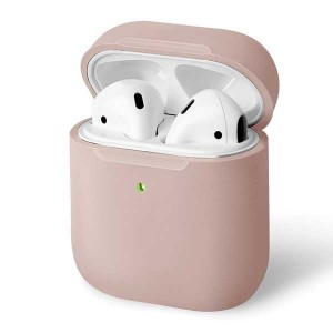 UNIQ Lino Slim Fit Silicone Schutzhülle AirPods 1 / 2 Generation rose