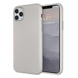 UNIQ Hülle Lino Hybrid Liquid Silikon / Mikrofaser iPhone 11 Pro Max beige