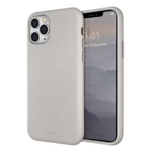 UNIQ Hülle Lino Hybrid Liquid Silikon / Mikrofaser iPhone 11 Pro beige