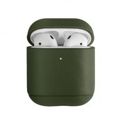 UNIQ Terra Hülle AirPods 1 / 2 Generation Vollnarbenleder olive grün