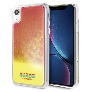 Guess California Glow in the dark Hülle iPhone XR Gelb / Pink GUHCI61GLCPI