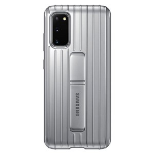 Original Samsung Protective Standing Cover / Hülle EF-RG980CS Galaxy S20 G980 silber