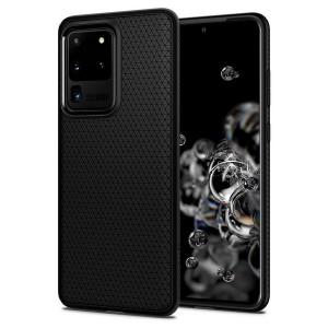 Spigen Liquid Air Hülle Samsung Galaxy S20 Ultra schwarz / mat