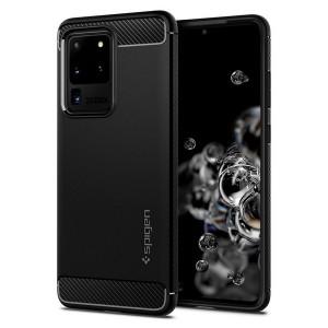 Spigen Rugged Armor Hülle Samsung S20 Ultra schwarz / mat