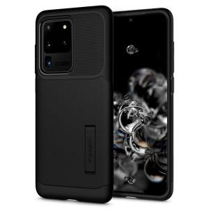 Spigen Slim Armor Hülle Samsung Galaxy S20 Ultra schwarz mit Kickstand