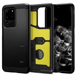Spigen SGP Tough Armor Hülle Samsung Galaxy S20 Ultra schwarz mit Kickstand