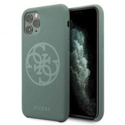 Guess Silicone 4G Tone On Tone Hülle iPhone 11 Pro khaki GUHCN58LS4GKA
