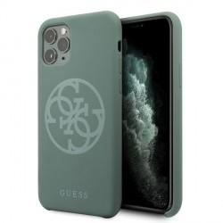 Guess Silicone 4G Tone On Tone Hülle iPhone 11 Pro Max khaki GUHCN65LS4GKA
