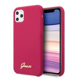 Guess Silikon Vintage Gold Logo Hülle iPhone 11 Pro Max Pink GUHCN65LSLMGRE