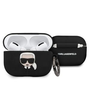 Karl Lagerfeld Silicone Hülle Ikonik AirPods Pro schwarz KLACAPSILGLBK
