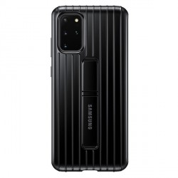 Original Samsung Hülle Galaxy S20+ Plus Schwarz Protective Standing Cover EF-RG985CB