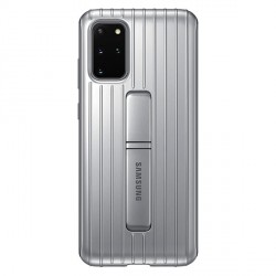Original Samsung Hülle Galaxy S20+ Plus Silber Protective Standing Cover EF-RG985CS