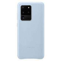 Original Samsung Lederhülle Galaxy S20 Ultra Leather Cover Blau EF-VG988LL