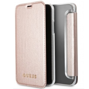 Guess Iridescent Tasche iPhone X / Xs rose gold GUFLBKPXIGLTRG