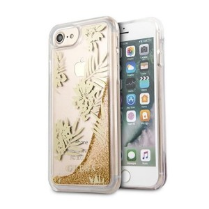 Guess iPhone SE 2020 / iPhone 8 / 7 Palm Springs Glitter Liquid Hülle Rosegold GUHCP7GLUPRG