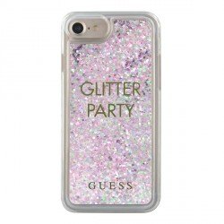Guess iPhone SE 2020 / iPhone 8 / 7 Party Glitter Liquid Hülle Lila GUHCP7GLUQPU