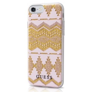 Guess iPhone SE 2020 / iPhone 8 / 7 Aztec Tribal 3D Hülle Gold GUHCP7TGPI