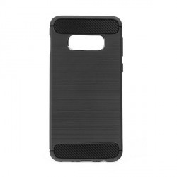 Carbon / Aluminium Design Hülle Samsung S20+ Plus schwarz