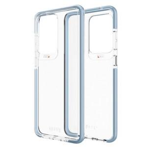 Gear4 D3O Piccadilly Hülle Samsung Galaxy S20 Ultra Transparent / Blau