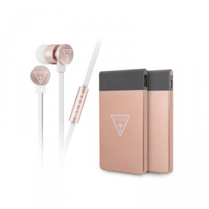 Guess Bundle 2w1 bluetooth Headsets + Powerbank rose gold GUBPERPBTRG