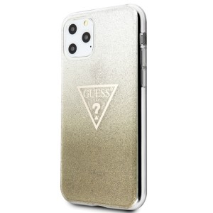 Guess Glitter Triangle Hülle  iPhone 11 Gold GUHCN61SGTLGO