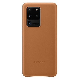 Samsung Lederhülle Galaxy S20 Ultra Leather Cover Braun EF-VG988LA