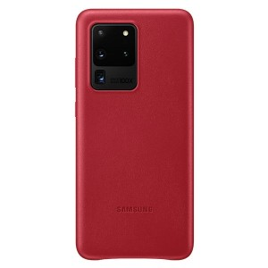 Samsung Lederhülle Galaxy S20 Ultra Leather Cover Rot EF-VG988LR