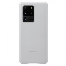 Samsung Lederhülle Galaxy S20 Ultra Leather Cover Grau EF-VG988LS