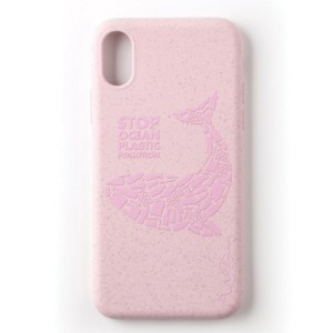 Wilma Ocean Whale Stop Plastic Eco Hülle iPhone Xs / X pink