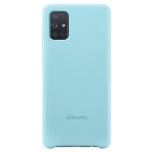 Original Samsung Silikonhülle EF-PA715TL Galaxy A71 blau