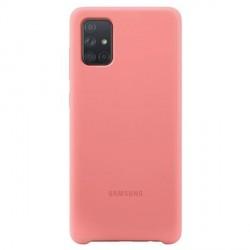 Original Samsung Silikonhülle EF-PA715TP Galaxy A71 pink