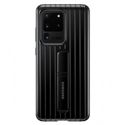 Samsung Hülle Protective Standing Cover Galaxy S20 Ultra Schwarz EF-RG988CB