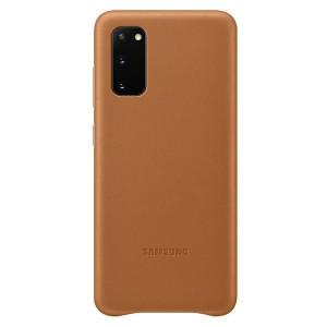 Samsung Lederhülle Galaxy S20 Leather Cover Braun EF-VG980LA