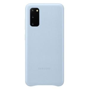 Samsung Lederhülle Galaxy S20 Leather Cover Blau EF-VG980LL