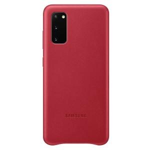 Samsung Lederhülle Galaxy S20 Leather Cover Rot EF-VG980LR
