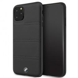 BMW iPhone 11 Pro Max Signature Horizontal Lines Lederhülle BMHCN65PELBK