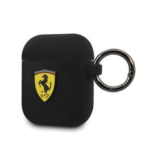 Ferrari Silikon Schutzhülle Airpods 1 / 2 schwarz FESACCSILSHBK