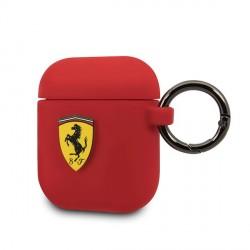 Ferrari Silikon Schutzhülle Airpods 1 / 2 Rot FESACCSILSHRE