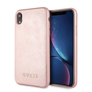Guess Saffiano Silicone Hülle iPhone Xr Pink GUHCI61SLSAPI