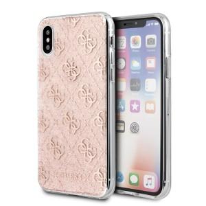 Guess 4G Glitter Hülle iPhone Xs Max GUHCI65PCU4GLPI Rose