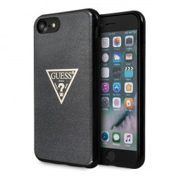 Guess iPhone SE 2020 / 8 / 7 Glitter Triangle Hülle schwarz GUHCI8SGTLBK