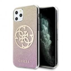 Guess Glitter Gradient 4G Circle Logo Hülle iPhone 11 Pro Roségold GUHCN58PCUGLPGG