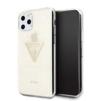 Guess Glitter Triangle Hülle iPhone 11 Pro Gold GUHCN58SGTLGO