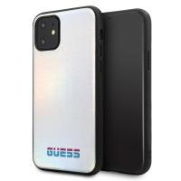 Guess Hülle / Cover Iridescent iPhone 11 Silber GUHCN61BLD
