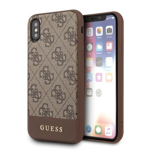 Guess 4G Stripe Collection Hülle iPhone X / Xs Braun GUHCPXG4GLBR